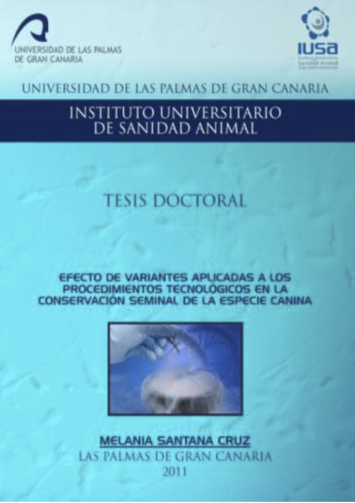 Tesis Doctoral: Efecto de variantes aplicadas a los procedimientos tecnológicos en la conservación seminal de la especie canina